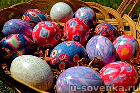 Красим яйца на Пасху: Шелковое чудо!