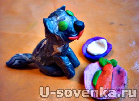 Поделка (Лепка) из пластилина - Кот